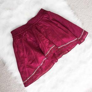 Mini Maroon AEO Mini Skirt
